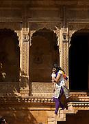 Mother and Child - Tourist at Jaisalmer Fort- Jaisalmer Rajasthan India 2011
