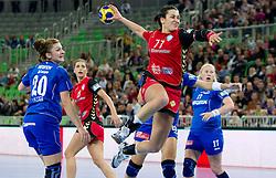 Andrea Lekic of Krim  during handball match between RK Krim Mercator (SLO) and RK Podravka Vegeta (CRO) in Women's EHF Champions League, on November 13, 2010 in Arena Stozice, Ljubljana, Slovenia. (Photo By Vid Ponikvar / Sportida.com)