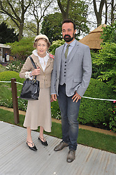 EVEGENY LEBEDEV and the DOWAGER, MARCHIONESS OF SALISBURY at the 2013 RHS Chelsea Flower Show held in the grounds of the Royal Hospital, Chelsea on 20th May 2013.
