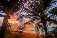 Beach at sunrise, Le Reve Hotel, Riviera Maya, Quintana Roo, Mexico