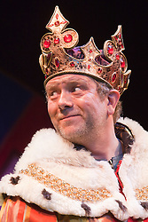 """© Licensed to London News Pictures. 26/07/2012. London, England. Jon Culshaw as King Arthur. Monty Python's """"Spamalot"""" musical based on the film """"Monty Python and the Holy Grail"""" opens at the Harold Pinter Theatre in London. The role of King Arthur is shared between Jon Culshaw and Marcus Brigstocke. Photo credit: Bettina Strenske/LNP"""