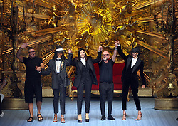 Male Fashion, Parade of Dolce and Gabbana, Domenico Dolce, Stefano Gabbana, Naomi Campbell and Monica Bellucci, Marpessa