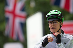 Dani King (GBR) of Cylance Pro Cycling waits for the start of the Prudential Ride London Classique - a 66 km road race, starting and finishing in London on July 29, 2017, in London, United Kingdom. (Photo by Balint Hamvas/Velofocus.com)
