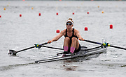 Poznan, POLAND, 21.06.19,  Friday,  NZL2 W1X, Samantha VOSS, at the start, World Rowing Cup II, Malta Lake Course, © Peter SPURRIER/Inter, sport Images, <br /> <br /> 11:53:03