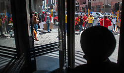 South Africa - Cape Town - 30 September 2020 - Numsa members in the Western Cape picket at the UIF provincial offices, as a result of many queries raised with the Department of Employment and Labour regarding the non-payment of Temporary Employee/Employer Relief Scheme (TERS). PIcture Courtney Africa/African News Agency(ANA)