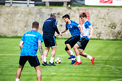 Matjaz Kek, head coach, Nemanja Mitrovic and Jaka Bijol of Slovenia national football team during practice session, on June 3, 2019 in Kranjska Gora, Slovenia. Photo by Peter Podobnik/ Sportida