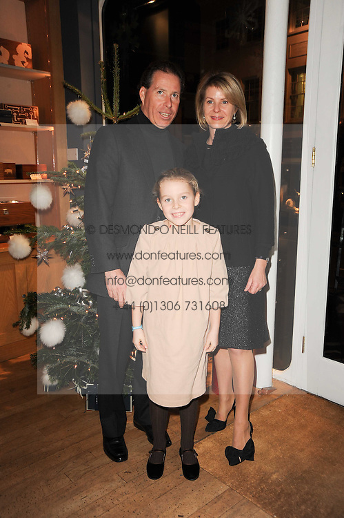 VISCOUNT & VISCOUNTESS LINLEY and their daughter The Hon.Margarita Armstrong-Jones at a party to celebrate 25 years of the David Linley store , 60 Pimlico Road, London on 16th November 2010.