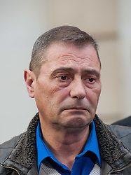 © Licensed to London News Pictures. 11/11/2015. Bristol, UK.  DARREN GALSWORTHY the father of murder victim Rebecca Watts, at a press call outside Bristol Crown Court after the verdicts were given by the jury in the case of the murder of Rebecca Watts.  Photo credit : Simon Chapman/LNP