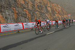 March 1, 2019 - Jebel Jais, United Arab Emirates - The Red Jersey, Primoz Roglic (4th Left) of Slovenia and Team Jumbo - Visma, by Tom Dumoulin (Left) on his way to win the sixth Rak Properties Stage of UAE Tour 2019, a 180km with a start from Ajman and finish in Jebel Jais. .On Friday, March 1, 2019, in Jebel Jais, Ras Al Khaimah Emirate, United Arab Emirates. (Credit Image: © Artur Widak/NurPhoto via ZUMA Press)