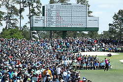 April 8, 2018 - Augusta, GA, USA - Patrick Reed hits his tee shot on three during the final round of the Masters at Augusta National Golf Club on Sunday, April 8, 2018, in Augusta., Ga. (Credit Image: © Jason Gatz/TNS via ZUMA Wire)