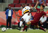 Koln 11/6/2006 World Cup 2006<br /> <br /> Angola Portugal - Angola Portogallo 0-1<br /> <br /> Photo Andrea Staccioli Graffitipress<br /> <br /> MAteus Angola Pauleta Portogallo