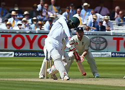 July 8, 2017 - London, United Kingdom - Kagiso Rabada of South Africa .during 1st Investec Test Match Day Three between England and South Africa at Lord's Cricket Ground in London on July 08, 2017  (Credit Image: © Kieran Galvin/NurPhoto via ZUMA Press)