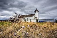 Images from a cloudy day at the historic McDougall church at Morely on the old Bow Valley Parkway. This is a beautiful spot and the Prairie Crocii in the fields surrounding it were incredible to see.<br /> <br /> ©2013, Sean Phillips<br /> http://www.RiverwoodPhotography.com