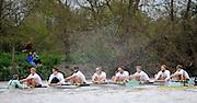 Putney- Mortlake, LONDON, GREAT BRITAIN,  Oxfords' right to left;  3. Kevin BAUM, 4. Alex DAVIDSON,5. Karl HUDSPITH, 6. Dr. Hanno WIENHAUSEN, 7. Dan HARVEY, Stk. Roel HAEN, Cox. Zoe DE TOLEDO.  Cambridges. Bow. David NELSON, 2. Moritz SCHRAMM 2012 Boat Race, Oxford University vs Cambridge University. racing over the championship course. Putney/Mortlake, Saturday  07/04/2012  [Mandatory Credit, Peter Spurrier/Intersport-images]..Crews:.OUBC. Bow Dr. Alexander WOODS, 2. William ZENG, 3. Kevin BAUM, 4. Alex DAVIDSON,5. Karl HUDSPITH, 6. Dr. Hanno WIENHAUSEN, 7. Dan HARVEY, Stk. Roel HAEN, Cox. Zoe DE TOLEDO...CUBC. Bow. David NELSON, 2. Moritz SCHRAMM, 3. Jack LINDEMAN, 4. Alex ROSS , 5.Michael THORP, 6. Steve DUDEK, 7 Alexander SCHARP, Stk. Niles GARRETT . Cox. Ed BOSSON .