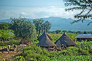 Straw huts in an Ethiopian village