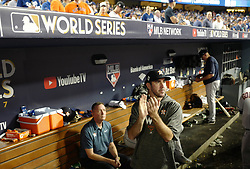 October 24, 2017 - Los Angeles, California, U.S. - Houston Astros pitcher Justin Verlander in the seventh inning of game one of a World Series baseball game against the Los Angeles Dodgers at Dodger Stadium on Tuesday, Oct. 24, 2017 in Los Angeles. Dodgers won 3-1. (Photo by Keith Birmingham, Pasadena Star-News/SCNG) (Credit Image: © San Gabriel Valley Tribune via ZUMA Wire)