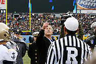 6 Dec 2008: President George W Bush throws the coin for the coin toss before the Army / Navy game December 6th, 2008. At Lincoln Financial Field in Philadelphia, Pennsylvania.