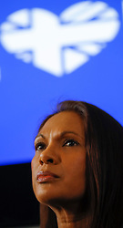 "© Licensed to London News Pictures. 26/04/2017. London, UK. Gina Miller speaking during the Launch of the Best for Britain initiative. Mrs Miller's campaign aims to endorse various candidates in the general election who support it's proposal for a ""meaningful"" vote by MPs at the end of the UK's EU Brexit negotiations. Photo credit: Peter Macdiarmid/LNP"