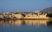 PUSHKAR, INDIA - CIRCA NOVEMBER 2016:  View of the Pushkar Lake