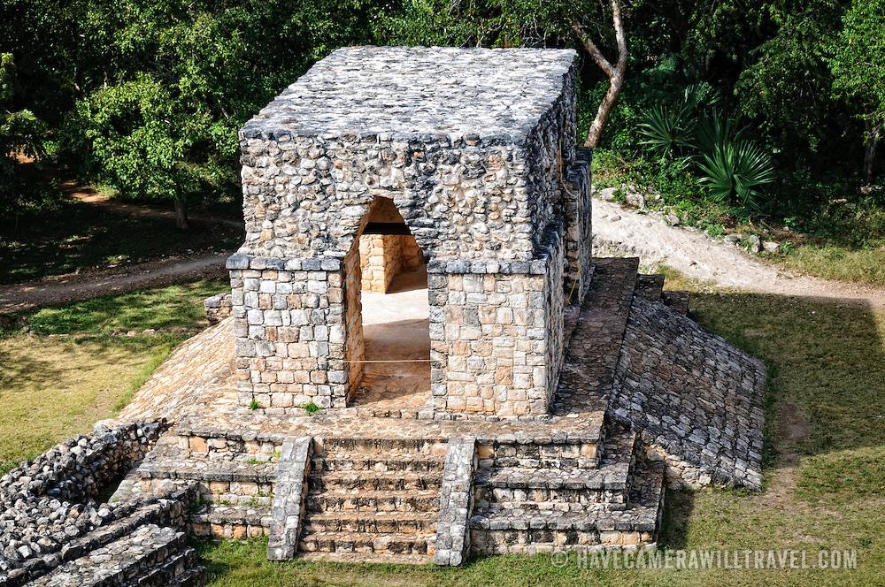 The Entrance Arch at the ancient Mayan ruins at Ek'Balam, near Valladolid, Yucatan, Mexico