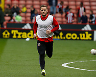 Billy Sharp of Sheffield Utd warms up during the English League One match at Bramall Lane Stadium, Sheffield. Picture date: April 17th 2017. Pic credit should read: Simon Bellis/Sportimage