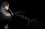 """Marabilli II programaren aurkezpena Bilboko Kafe antzokian.  2013ko irailaran 26an Bilbon, Euskal Herria.  """"Marabilli sormen festibala"""" Aitzol Aramaio zenaren indarrarekin jaiotako egitasmo bat da eta helburua da hainbat artista Ondarroan biltzea, idazleak, musikariak, zinegileak, antzerkilariak, artista plastikoak, diseinatzaileak... (Josu Trueba Leiva / Bostok Photo)"""