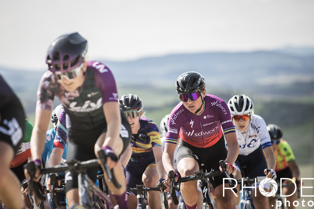 later race winner Chantal van den Broek-Blaak (NED/SDWorx) in the bunch<br /> <br /> 7th Strade Bianche Women Elite <br /> Siena > Siena 136km<br /> <br /> ©RhodePhoto