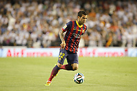 F.C. Barcelona´s Dani Alves during the Spanish Copa del Rey `King´s Cup´ final soccer match between Real Madrid and F.C. Barcelona at Mestalla stadium, in Valencia, Spain. April 16, 2014. (ALTERPHOTOS/Victor Blanco)