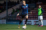 Rochdale A.F.C forward Jake Beesley (11) in action during the The FA Cup match between Rochdale and Stockport County at the Crown Oil Arena, Rochdale, England on 7 November 2020.