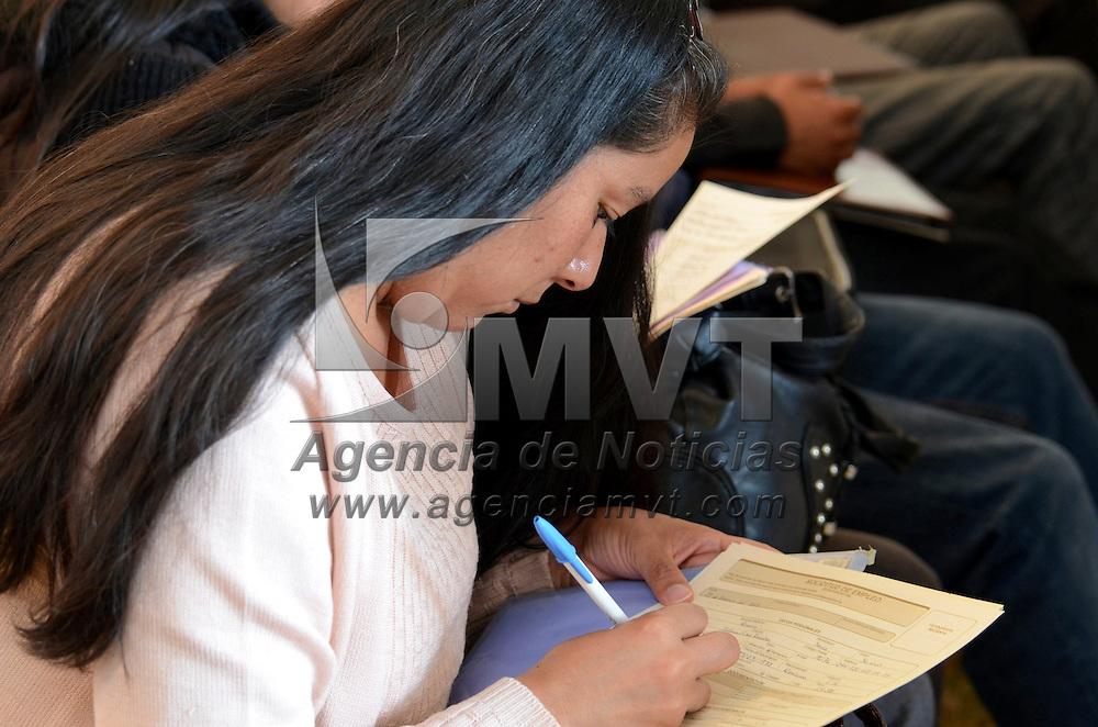 Metepec, México.- 209 empresas se dieron cita en la Segunda Feria Nacional de Empleo, ofreciendo mas de 2 mil 942 vacantes a más de mil 700 buscadores de empleo. Agencia MVT / José Hernández