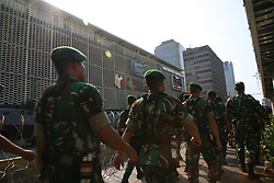 May 22, 2019 - Jakarta, DKI Jakarta, Indonesia - The police and TNI (Indonesian National Army) guarded the situation at the Bawaslu (Election Supervisory Agency) building when it was attacked by demonstrators. (Credit Image: © Kuncoro Widyo Rumpoko/Pacific Press via ZUMA Wire)