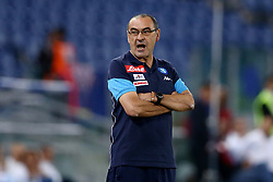 September 20, 2017 - Rome, Italy - Napoli trainer Maurizio Sarri during the Serie A match between SS Lazio and SSC Napoli at Stadio Olimpico on September 20, 2017 in Rome, Italy. (Credit Image: © Matteo Ciambelli/NurPhoto via ZUMA Press)