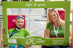 Aleksandra Lipej and Ana Savsek  during the 5th Stage of 27th Tour of Slovenia 2021 cycling race between Ljubljana and Novo mesto (175,3 km), on June 13, 2021 in Slovenia. Photo by Vid Ponikvar / Sportida