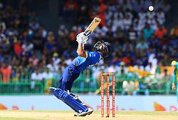 August 12, 2018 - Colombo, Sri Lanka - Sri Lankan cricketer Niroshan Dickwella tries to play a shot during the 5th and final One Day International cricket match at R Premadasa International cricket ground, Colombo, Sri Lanka on Sunday 12 August 2018. (Credit Image: © Tharaka Basnayaka/NurPhoto via ZUMA Press)