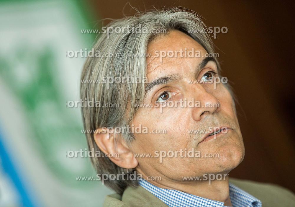 Rodolfo Vanoli during presentation of a new head coach of NK Olimpija, on April 22, 2016 in Austria Trend Hotel, Ljubljana, Slovenia. Photo by Vid Ponikvar / Sportida