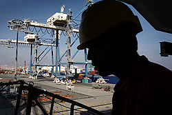 """Indian seafarers work aboard the MSC Ingrid, which was at port in Limassol, Cyprus on Feb. 22, 2008. Cyprus is the crossroads of international ship management and  where all the agencies are recruiting and hiring the cheapest workers worldwide. Cyprus is also one of the """"Flag-of-Convenience"""" States like Panama and Liberia."""