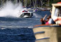 Motorsport, 15 august 2004, båtsport, Scandinavian Grand Prix, Class 1 World Powerboat Championship, Spirit of Norway,  Bjørn Rune Gjelsten, Steve Curtis, Norge, publikum, illustrasjon