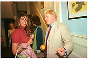 Petronella Wyatt and Boris Johnson. Spectator Summer party. Doughty St. 7/6/2000.