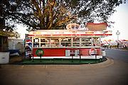 A hotdog vendor at the famous North Carolina State Fairgrounds.