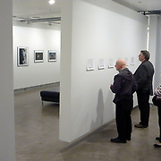 Installation in the Blue Sky Gallery in Portland, Oregon of The Fighting Season exhibition. Showing print outs of Louie Palu's diaries in entrance and prints in the main space.<br /> (Credit Image: © Louie Palu/ZUMA Press)