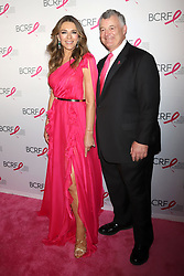 Elizabeth Hurley and William P. Lauder attend the Hot Pink Party at the Park Avenue Armory in New York