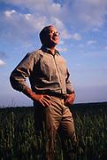 US Senator Sam Nunn on his farm in Perry, Georgia.