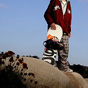 """Luke Mitrani photographed for Sports Illustrated's """"Where Will They Be"""" feature in Encinitas, California on June 19,2006. Mitrani, a snowboarder from a beach town, had major endorsements by age eight..."""