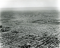 1924 Aerial looking SE from Sunset Blvd. just west of Fairfax Ave. at Rancho La Brea Oil Co.(center of photo).
