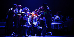 The Mad Hatter's Tea Party <br /> by Zoo Nation<br /> directed by Kate Prince<br /> presented by Zoo Nation, The Roundhouse & The Royal Opera House<br /> at The Roundhouse, London, Great Britain <br /> rehearsal <br /> 29th December 2016 <br /> <br /> Tommy Franzen as Ernest -  centre <br /> <br /> Issac Turbo Baptiste<br /> as the Mad Hatter <br /> <br /> Teneisha Bonner as The Queen of Hearts <br /> <br /> Kayla Lomas-Kirton as Alice <br /> <br /> Rowen Hawkins as Tweedle Dum <br /> <br /> Manny Tsakanika as Tweedle Dee<br /> <br /> Bradley Charles as the March Hare <br /> <br /> Andry Oporia as The Cheshire Cat <br /> <br /> Jaith Betote as The White Rabbit <br /> <br /> Photograph by Elliott Franks <br /> Image licensed to Elliott Franks Photography Services