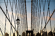 Brooklyn Bridge and skyline, New York City
