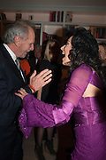 MARK SHAND; NANCY DELL D'OLIO, Drinks party given by Basia and Richard Briggs,  Chelsea. London. SW3. 13 February 2014.
