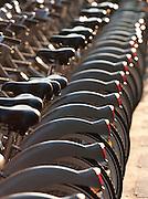 A Velib (public bicycle hire) Station in Paris, France
