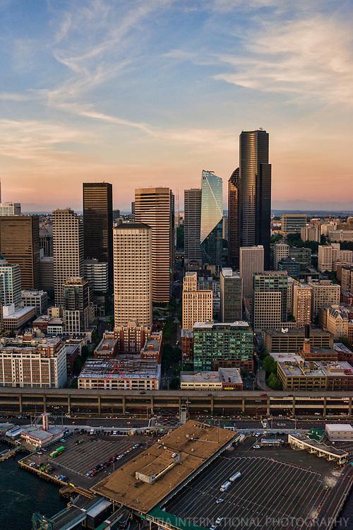 Downtown Seattle & Washington State Ferry Terminal