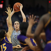 HARTFORD, CONNECTICUT- JANUARY 4:  Natalie Butler #51 of the Connecticut Huskies in action during the UConn Huskies Vs East Carolina Pirates, NCAA Women's Basketball game on January 4th, 2017 at the XL Center, Hartford, Connecticut. (Photo by Tim Clayton/Corbis via Getty Images)